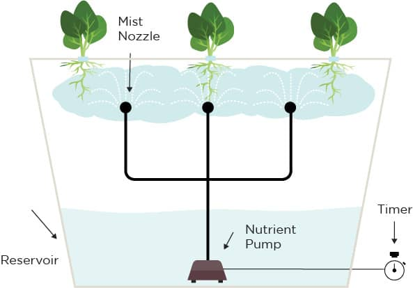 sistem hidroponik aeroponic